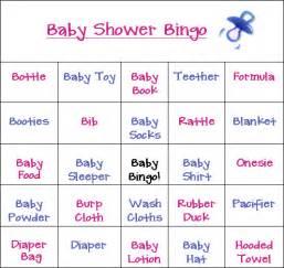 baby bingo template all new baby shower bingo