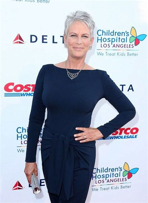 great jamie lee curtis short straight full lace real human 60 gorgeous gray hair styles short gray hairstyles grey