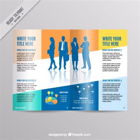 business magazine template vector premium download