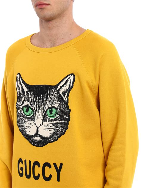 Cotton Embroidered Sweatshirt guccy embroidered cotton sweatshirt by gucci sweatshirts