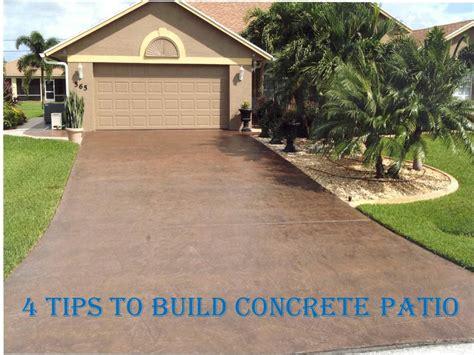 Build A Concrete Patio by 4 Tips To Build Concrete Patio Maple Concrete Pumping