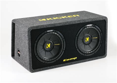 Speaker Subwoofer Kicker kicker car stereo dcws10 dual comps 10 quot loaded subwoofer mdf audio enclosure box 2 ohms