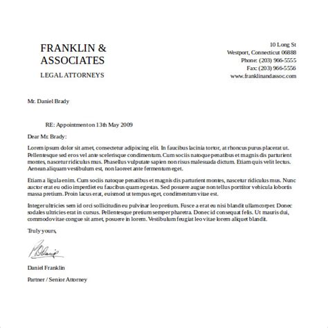 Business Letter Template Text 14 free letterhead templates free sle exle