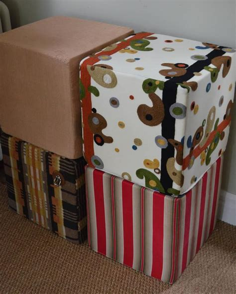 fabric ottomans for sale antique french ticking fabric as ottoman pouf for sale at