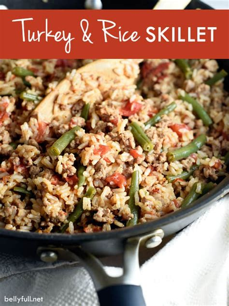 recipes with rice and ground turkey turkey and rice skillet