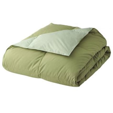 New Home Classics Reversible Down Comforter Green Kiwi