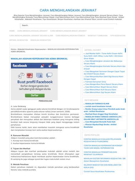 artikel format asuhan keperawatan makalah asuhan keperawatan asma bronkial cara