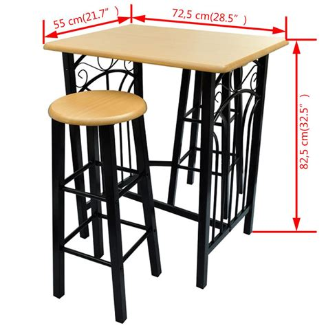 Breakfast Table With 2 Stools by Breakfast Dinner Bar Table With 2 High Chairs Stool Dining