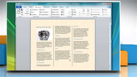 how to make a tri fold brochure in microsoft 174 word 2007