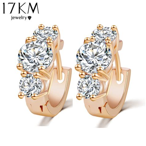 Kaos Silver New Design 17km new design fashion luxury gold color zircon earrings statement silver color