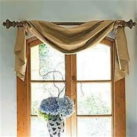 curtain scarf hanging ideas window treatments on pinterest valances custom window