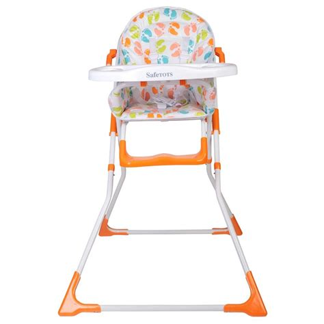 safetots bright compact foldable highchair baby