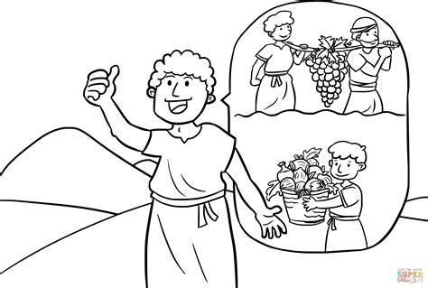 Coloring Page 12 Spies by The Grapes Of Canaan Coloring Page Free Printable