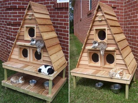 Insulated Outdoor Cat Houses Multiple Outdoor Cat House Insulated Cat House Plans