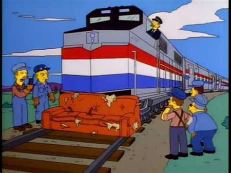 train couch the simpsons discarded couch on the tracks youtube