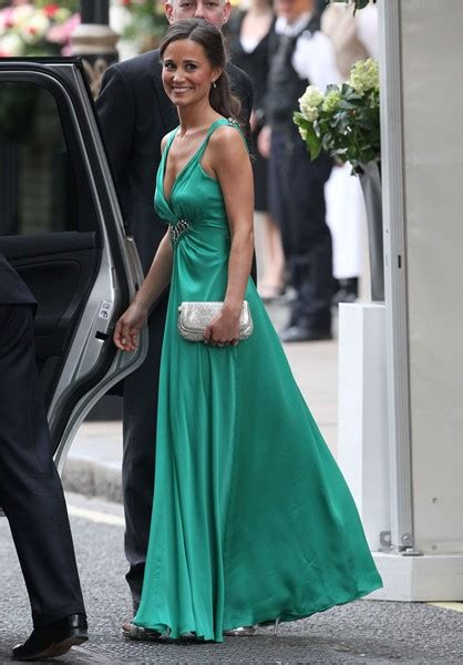 pippa middleton glamorous green royal wedding reception