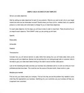 Sales Business Plan Template by Sales Business Plan Template 7 Free Sle Exle