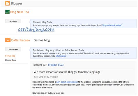membuat blogspot cara mudah membuat blog dan website gratis