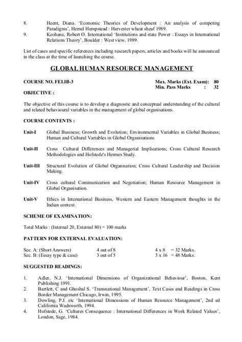 Mba 4th Sem Syllabus Bu Bhopal by B U Bhopal Mba Syllabus