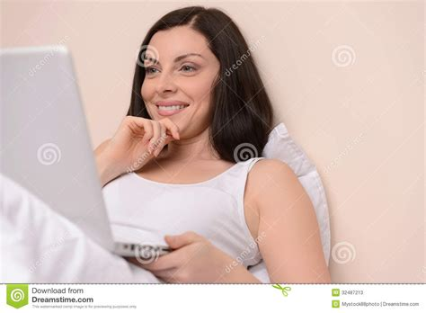 beautiful middle aged woman working at her day off beautiful middle aged women stock