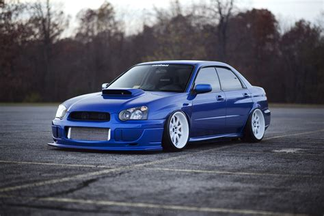 stanced subaru hd wallpaper subaru impreza wrx sti subaru tuning blue hd