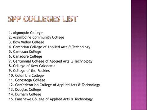 Spp College List Canada study in canada colleges in canada courses in canada