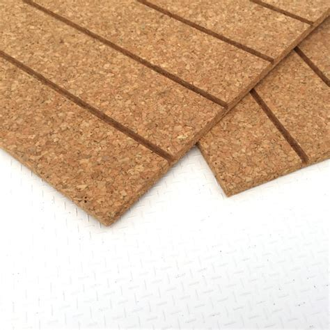 50cm x 200cm cork sheet with grooves seacork