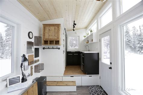 Tiny House Concept by Open Concept Rustic Modern Tiny House Photo Tour And