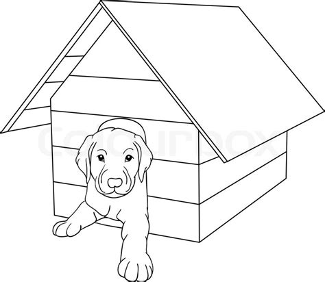 dog house background vector house dog isolated on background stock vector colourbox