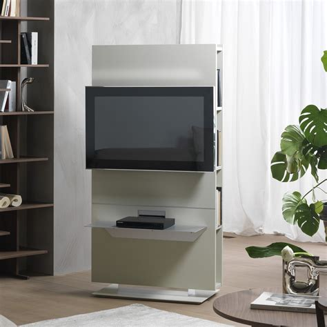 librerie porta tv porta tv girevole con libreria lounge arredaclick