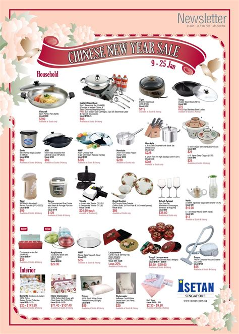 isetan new year isetan new year sale great deals singapore