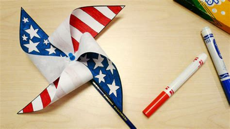 easy labor day crafts for patriotic pinwheel grandparents