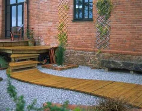 Decking Ideas For Small Gardens Deck Concrete Steps With Walkway Landscape Inspiration Concrete Steps