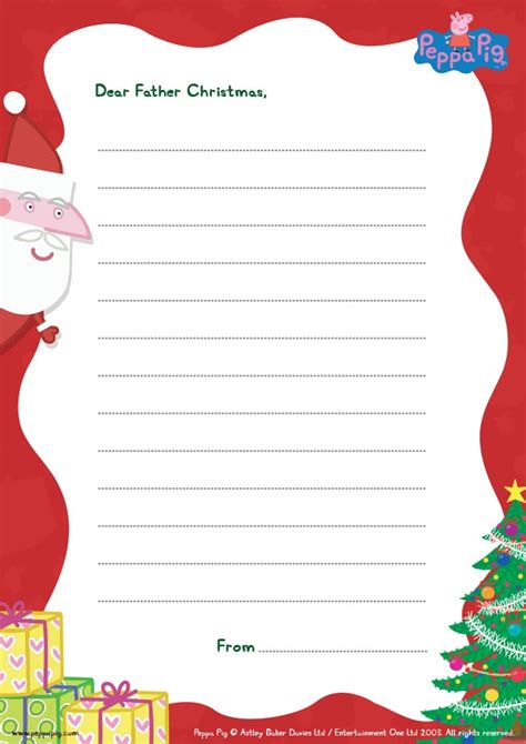 letter to santa template free printable free printable peppa pig letter to santa template