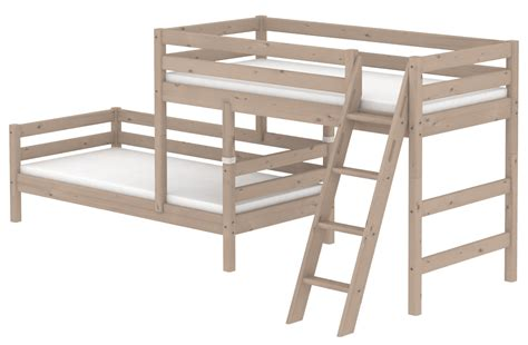 offset bunk beds flexa classic staggered bunk bed rainbow wood