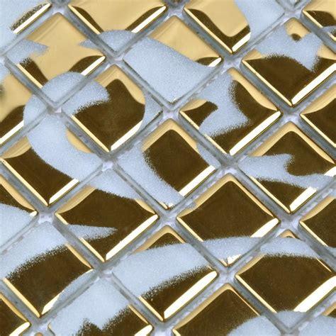 mosaic pattern wall crystal glass tile golden mosaic pattern design interior