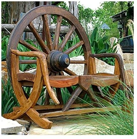 outdoor rustic bench rustic wagon wheel bench in teak rustic outdoor