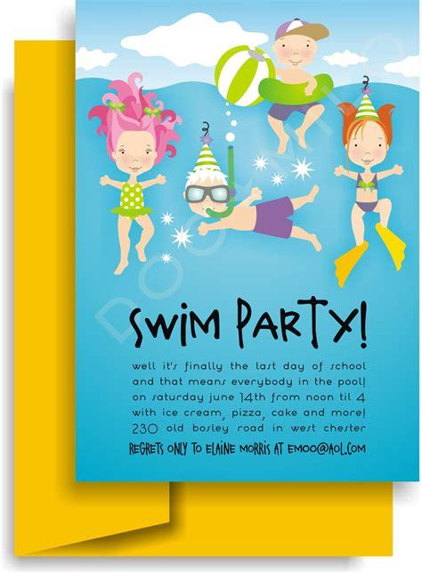 backyard birthday party invitations pool birthday party invitation backyard design ideas