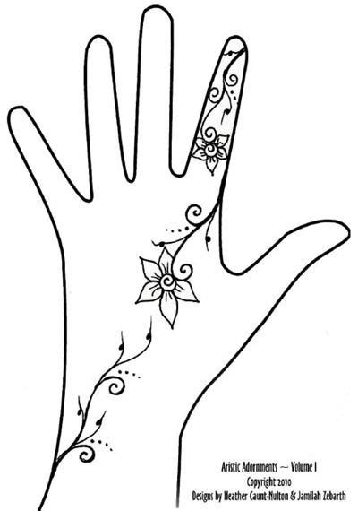 trailing tattoos designs trailing henna vine designs on the backs of