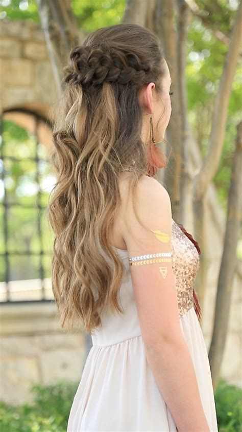 Prom Up Hairstyles by Braided Half Up Prom Hairstyles Hairstyles