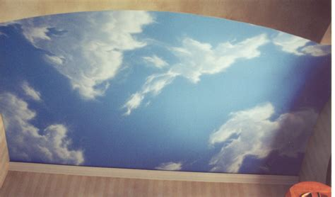 ceiling designs painted clouds artistic solutions