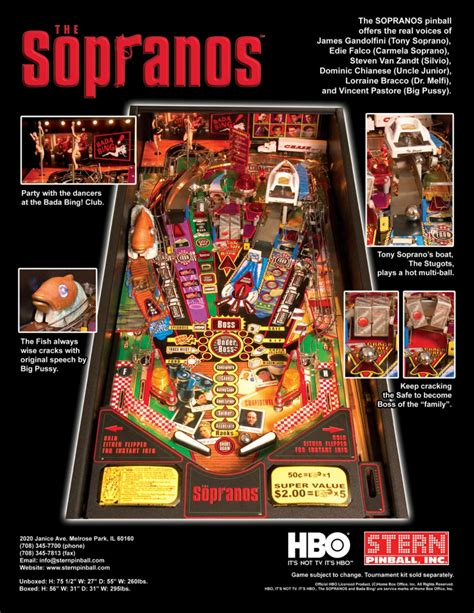 stugots boat sopranos hbo sopranos pinball machine by stern with led lighting ebay