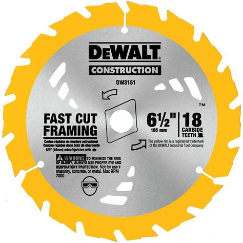 thin kerf saw blade dewalt construction 6 1 2 in 18 teeth thin kerf saw blade