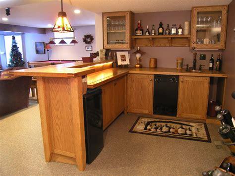 custom oak wet bar traditional home bar edmonton