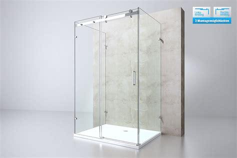 Glass Shower Door Coating Durovin Shower Enclosure Two Side Glass U Shape Frameless 8mm Nano Coating Ebay