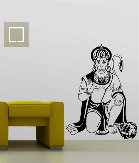 Decorative Stickers For Wall trends on wall black pvc lord hanuman wall sticker buy