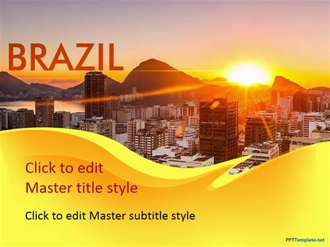 powerpoint 2010 themes brazil free brazil ppt template
