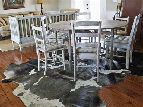 the on decorating with cowhide rugs cedar hill