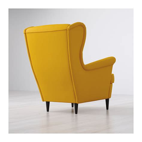 yellow armchair strandmon wing chair skiftebo yellow ikea