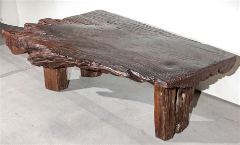 slab coffee tables reclaimed wood slab coffee table at 1stdibs